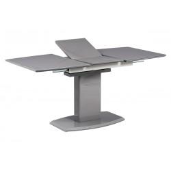 jedálenský stôll 120+40x80 cm, šedé sklo + šedá MDF