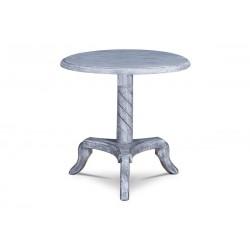 stolík, biely antik, masív akácia