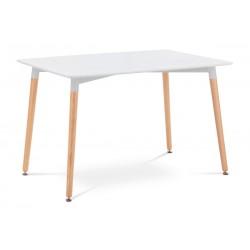 jedálenský stôl 120x80cm, biela, natural